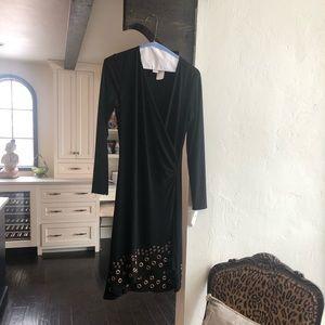 Joseph Ribkoff NWT Black Ruched Jersey dress S 8